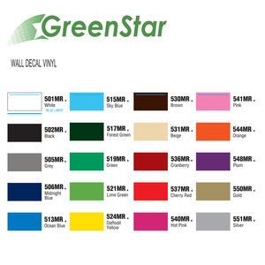 GreenStar Wall Decal Viny