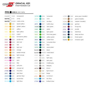 Oracal 651 Vinyl Colors