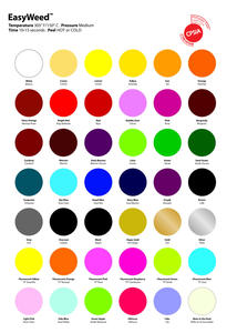 SISER EasyWeed Heat Transfer Vinyl Colors